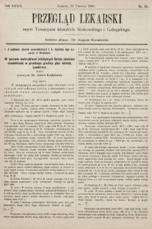 Przegląd Lekarski : organ Towarzystw lekarskich: Krakowskiego i Galicyjskiego. 1900, nr25