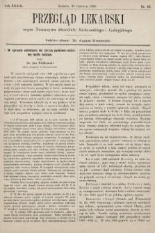 Przegląd Lekarski : organ Towarzystw lekarskich: Krakowskiego i Galicyjskiego. 1900, nr26