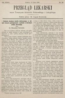 Przegląd Lekarski : organ Towarzystw lekarskich: Krakowskiego i Galicyjskiego. 1900, nr28