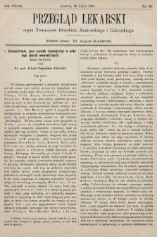 Przegląd Lekarski : organ Towarzystw lekarskich: Krakowskiego i Galicyjskiego. 1900, nr30
