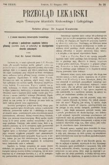 Przegląd Lekarski : organ Towarzystw lekarskich: Krakowskiego i Galicyjskiego. 1900, nr32