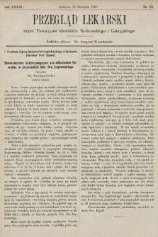 Przegląd Lekarski : organ Towarzystw lekarskich: Krakowskiego i Galicyjskiego. 1900, nr34