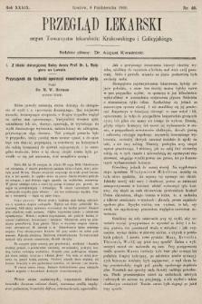 Przegląd Lekarski : organ Towarzystw lekarskich: Krakowskiego i Galicyjskiego. 1900, nr40