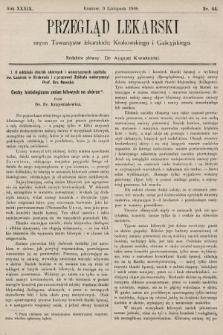 Przegląd Lekarski : organ Towarzystw lekarskich: Krakowskiego i Galicyjskiego. 1900, nr44