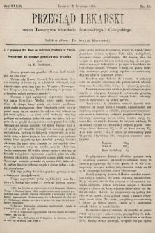 Przegląd Lekarski : organ Towarzystw lekarskich: Krakowskiego i Galicyjskiego. 1900, nr51