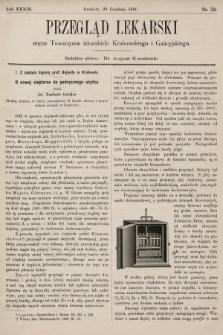 Przegląd Lekarski : organ Towarzystw lekarskich: Krakowskiego i Galicyjskiego. 1900, nr52