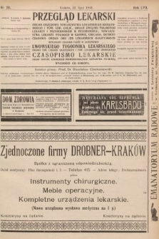 Przegląd Lekarski oraz Czasopismo Lekarskie. 1918, nr28