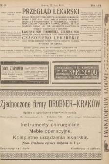 Przegląd Lekarski oraz Czasopismo Lekarskie. 1918, nr30