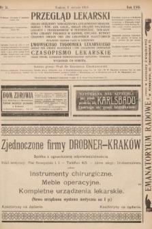 Przegląd Lekarski oraz Czasopismo Lekarskie. 1918, nr31