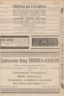 Przegląd Lekarski oraz Czasopismo Lekarskie. 1918, nr35