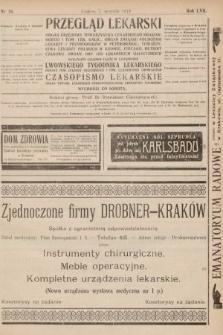Przegląd Lekarski oraz Czasopismo Lekarskie. 1918, nr36