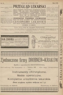 Przegląd Lekarski oraz Czasopismo Lekarskie. 1918, nr41