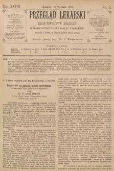 Przegląd Lekarski : organ Towarzystw Lekarskich Krakowskiego i Galicyjskiego. 1889, nr2