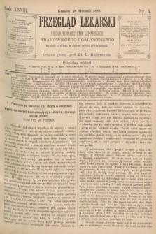 Przegląd Lekarski : organ Towarzystw Lekarskich Krakowskiego i Galicyjskiego. 1889, nr4