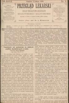 Przegląd Lekarski : organ Towarzystw Lekarskich Krakowskiego i Galicyjskiego. 1889, nr5