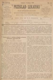 Przegląd Lekarski : organ Towarzystw Lekarskich Krakowskiego i Galicyjskiego. 1889, nr6
