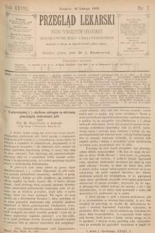 Przegląd Lekarski : organ Towarzystw Lekarskich Krakowskiego i Galicyjskiego. 1889, nr7