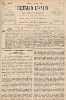 Przegląd Lekarski : organ Towarzystw Lekarskich Krakowskiego i Galicyjskiego. 1889, nr9
