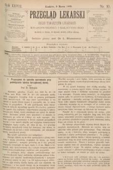 Przegląd Lekarski : organ Towarzystw Lekarskich Krakowskiego i Galicyjskiego. 1889, nr10