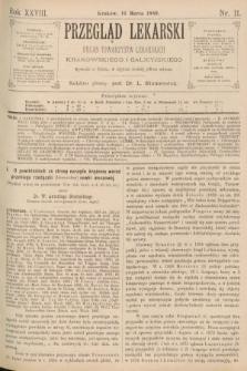 Przegląd Lekarski : organ Towarzystw Lekarskich Krakowskiego i Galicyjskiego. 1889, nr11