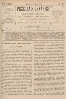 Przegląd Lekarski : organ Towarzystw Lekarskich Krakowskiego i Galicyjskiego. 1889, nr19
