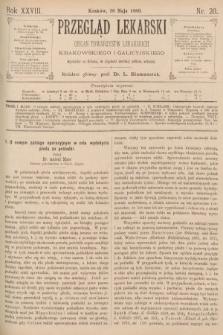 Przegląd Lekarski : organ Towarzystw Lekarskich Krakowskiego i Galicyjskiego. 1889, nr20