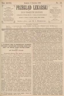 Przegląd Lekarski : organ Towarzystw Lekarskich Krakowskiego i Galicyjskiego. 1889, nr23