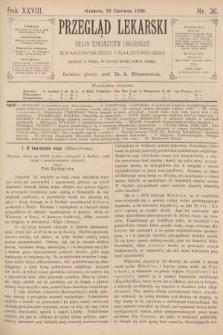 Przegląd Lekarski : organ Towarzystw Lekarskich Krakowskiego i Galicyjskiego. 1889, nr26