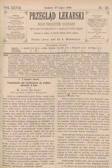 Przegląd Lekarski : organ Towarzystw Lekarskich Krakowskiego i Galicyjskiego. 1889, nr30
