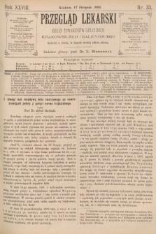 Przegląd Lekarski : organ Towarzystw Lekarskich Krakowskiego i Galicyjskiego. 1889, nr33