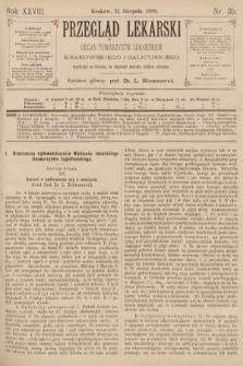 Przegląd Lekarski : organ Towarzystw Lekarskich Krakowskiego i Galicyjskiego. 1889, nr35
