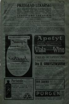 Przegląd Lekarski oraz Czasopismo Lekarskie. 1914, nr1