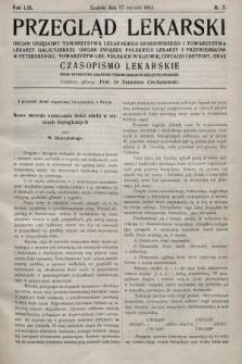Przegląd Lekarski oraz Czasopismo Lekarskie. 1914, nr3