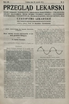 Przegląd Lekarski oraz Czasopismo Lekarskie. 1914, nr4