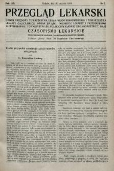 Przegląd Lekarski oraz Czasopismo Lekarskie. 1914, nr5