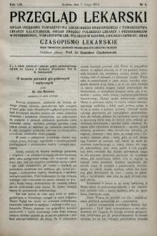 Przegląd Lekarski oraz Czasopismo Lekarskie. 1914, nr6