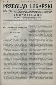 Przegląd Lekarski oraz Czasopismo Lekarskie. 1914, nr12