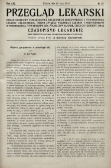 Przegląd Lekarski oraz Czasopismo Lekarskie. 1914, nr21