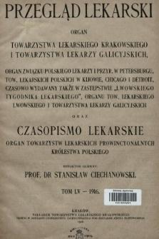 Przegląd Lekarski oraz Czasopismo Lekarskie. 1916 [całość]
