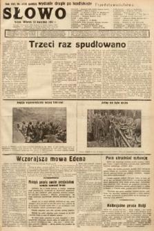 Słowo. 1937, nr100 a (wydanie drugie po konfiskacie)