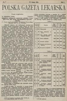 Polska Gazeta Lekarska. 1922, nr7