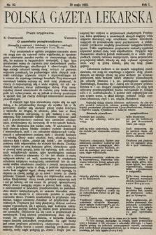 Polska Gazeta Lekarska. 1922, nr22