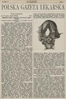 Polska Gazeta Lekarska. 1922, nr36