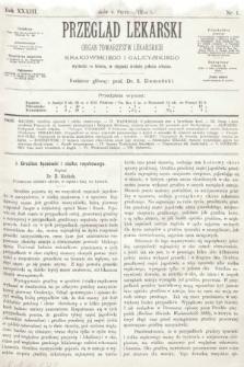 Przegląd Lekarski : organ Towarzystw Lekarskich Krakowskiego i Galicyjskiego. 1894, nr1