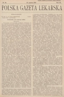 Polska Gazeta Lekarska. 1933, nr26