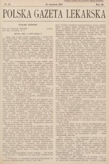 Polska Gazeta Lekarska. 1933, nr37