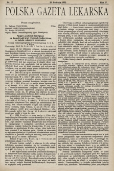Polska Gazeta Lekarska. 1925, nr17