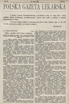 Polska Gazeta Lekarska. 1925, nr20