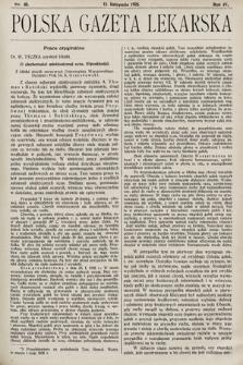 Polska Gazeta Lekarska. 1925, nr46