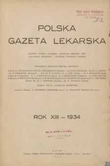 Polska Gazeta Lekarska. 1934, spis rzeczy